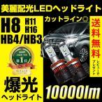 LEDヘッドライト フォグランプ H8/H11/H16/HB4/HB3/H10/H7/PSX26 10000ルーメン ハイビーム 抜群の配光精度 美麗なカットライン 送料無料 1年保証