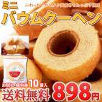 (8月17日以降発送)ミニバウムクーヘン 10個 お試し 1000円以下 ポイント消化 送料無料