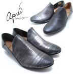 apres/アプレ 3750029 ステップインシューズ ペタンコパンプス ブラック/ガンメタアプレ