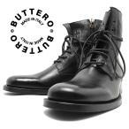 BUTTERO ブッテロ 日本正規品 定番7ホール レースアップブーツ ネロ(ブラックレザー) B2904 イタリア製 編み上げブーツ すね丈 ブローク メンズ 男性用 本革