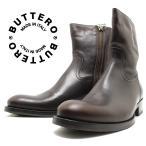 BUTTERO ブッテロ 日本正規品 定番サイドジップブーツ エボニー(ブラウンレザー) B825 イタリア製 サイドファスナー すね丈 ショートブーツ メンズ 男性用 本革