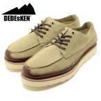 DEDEsKEN/デデスケン ショートモカシンレザーシューズ ベージュ(グッドイヤーウェルト製法/革靴/短靴/メンズ/男性用) (10525)