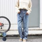Yahoo!anluluレディース ファッション 大きいサイズ 40代 30代 秋 冬 パンツ ハイウエスト ジーンズ ビッグサイズ 脚長 ゆるカジ カジュアル デニム
