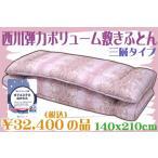 ショッピング西川 西川ボリューム快適弾力敷きふとん ダブルサイズ 日本製 ピンク