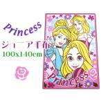 プリンセス ニューマイヤーハーフ毛布 100x140cmピンク ジュニア キャラクター 子供ケット プリンセスブーケ