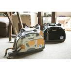 TOUCHDOG ペットキャリーバッグ 2way(ショルダー・手提げ) 犬猫 旅行 通院 避難 (ミケねこ M)