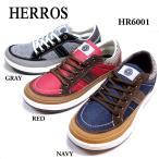 ワイズ4E スニーカー 幅広 甲高 デニム地 パイル地 アウトドア カジュアル 選べるcolor 紳士靴 [HERROS]HR6001