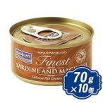 フィッシュ4 キャット 缶詰 イワシ&サバ 70g×10缶 fish4 SARDINE AND MACKEREL 無添加フード  a