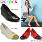 クロックス レディース パンプス キャップトゥ ウェッジ crocs cap toe wedge 12299 国内正規取扱店 黒