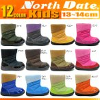 ノースデイト North Date キッズ ベビー ブーツ ダウン風 ウィンターブーツ ベビーブーツ チャイルド 子供靴 黒