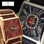 腕時計 メンズ 人気 ブランド KEITH VALLER キースバリー ルーレット付き 革ベルト K1612BBK K1674RBR