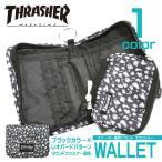 THRASHER レオパード ラウンドジップ 財布 コインケース付き。