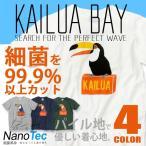 KAILUA BAY Tシャツ カイルアベイTシャツ メンズTシャツ オニオオハシのプリントがカワイイ タオル地 ナノテックTシャツ TSS-215