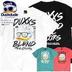 DUCK DUDE Tシャツ ダックデュード 2021SS スプラッシュ アヒル ロゴプリント 半袖Tシャツ ペンキ柄 ロゴ クルーネック プリントTシャツ バックプリント TSS-482
