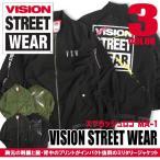 VISION STREET WEAR ブルゾン ヴィジョンストリートウェア MA-1 メンズ 袖プリントと背中のスプラッシュ VISION-096