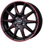 送料無料★クロススピードプレミアムRS10 レッドマシニング 165/55R15 国産タイヤ ホイール4本セット N-BOX ウェイク タント