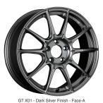 送料無料★SSR GT-X01 ダークシルバー 225/45R18 国産タイヤホイール4本セット 7.5J 5穴PCD114.3 レヴォーグ オデッセイ