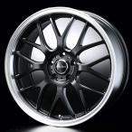 送料無料 ユーロスポーツタイプ805 セミグロスブラック 215/45R17 国産タイヤ ホイール 4本セット PCD100 プリウス 等に