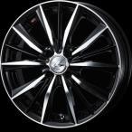 送料無料 WEDS ウェッズ レオニスVX BKMC 195/50R16 国産 タイヤ ホイール4本セット アクア 12キューブ フィット