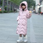 中綿コート 女の子 ダウンジャケット 子供 ダウンコート ロング キッズ フード付き ジュニア 冬 防寒