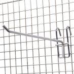 ネットフック Φ5mm 陳列ネット什器 スチール製 店舗用品 [ 20cm / 10個セット ] 陳列フック ティスプレイフック 壁掛けフック