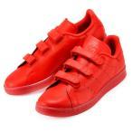 男女兼用  アディダス スタンスミス ベルクロ レッド 赤 靴 スニーカー  adidas STAN SMITH CF S80043