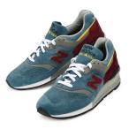メンズ/レディース  ニューバランス スニーカー ブルー バーガンディ イエロー USA 997 靴   New Balance M997DTE