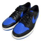 メンズ NIKE AIR JORDAN 1 RETRO LOW OG 705329-004 ナイキ エア ジョーダン 1 レトロ ロー ロウ ブルー ブラック スニーカー 靴 レザー 黒 青
