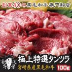 肉 宮崎県産 A5 最高ランク 黒毛和牛 希少 タンツラ 100g 秘伝塩こしょう付 ギフト 牛たん 焼肉