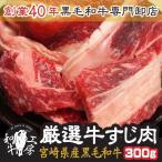 肉 もつ鍋 宮崎県産 黒毛和牛リブロース・サーロイン厳選牛すじ肉 300g 牛すじ 土手焼き 煮込み料理 焼肉