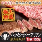 肉 A5 鹿児島産 黒毛和牛 極上特選 ハラミステーキ シャトーブリアン 1枚 150g 秘伝塩こしょう付 ギフト 焼肉