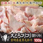 肉 A5 宮崎県産 黒毛和牛 脂付コリコリ 100g 大とろコリコリ ハツモト もつ煮 どて煮 焼肉 ホルモン