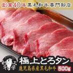 肉 鹿児島県産 A5ランク 黒毛和牛 極上とろ タン 500g 秘伝塩こしょう付き ギフト 牛たん 焼肉
