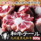肉 もつ鍋 牛ホルモン卸店の九州産 黒毛和牛テール カット済み 500g A5ランク和牛ホルモン ブロック