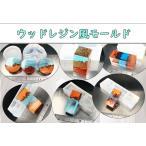 ウッドレジン風シリコンモールド7種☆レジン UVレジン 透明シリコン