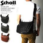 (ショット) Schott パデット レザー ショルダーバッグ