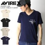 (アビレックス) AVIREX アヴィレックス U.S.N.V-ネック Tシャツ カットソー ショートスリーブ
