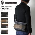 ショッピングビアンキ (ビアンキ) Bianchi ミニショルダーバッグ クラッチバッグ フェイクレザー ボディバッグ ショルダーバッグ メンズ レディース