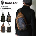 ショッピングビアンキ (ビアンキ) Bianchi ボディバッグ ワンショルダーバッグ ショルダーバッグ フェイクレザー メンズ レディース