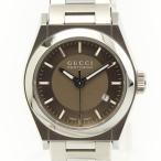 【グッチ】Gucci パンテオン クオーツ 腕時計 YA115509 シルバー×ブラウン  【中古】【正規品保証】29735