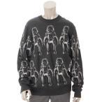 【ルイヴィトン】Louis Vuitton 19SS メンズ スペースマン ニット トップス セーター グレー XL 【中古】【正規品保証】68592