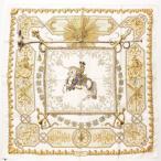 【エルメス】Hermes カレ90 シルクスカーフ LVDOVICVS MAGNVS 白い馬に跨ったルイ14世 ベージュ 【中古】【正規品保証】90051