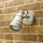 スポットライト 壁付 天井付兼用 E17ソケット BR992 ホワイト ReUdo ヴィンテージデザイン LED電球6.5W電球色付き