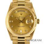ロレックス デイデイト 10P 18038A 自動巻 K18イエローゴールド メンズ 腕時計 fc【中古】