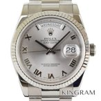 ロレックス デイデイト 118239 ローマン文字盤 OH済 外装仕上げ済 自動巻 メンズ 腕時計 ku【中古】