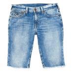 """トゥルーレリジョン メンズ ハーフパンツ・ショーツ ボトムス Ricky Flap 13"""" Inseam 5-Pocket Denim Jean Shorts"""