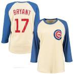 マジェスティック メンズ Tシャツ トップス Kris Bryant Chicago Cubs Majestic Softhand Name & Number Raglan T-Shirt