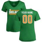 ファナティクス ブランデッド レディース Tシャツ トップス Ireland Women's Personalized Name & Number T-Shirt
