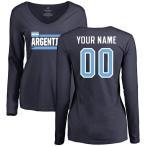 ファナティクス ブランデッド レディース Tシャツ トップス Argentina Women's Personalized Name & Number Long Sleeve T-Shirt