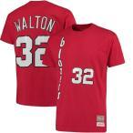 ミッチェル&ネス メンズ Tシャツ トップス Bill Walton Portland Trail Blazers Mitchell & Ness Name and Number T-Shirt